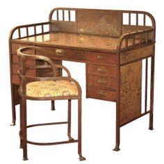 Art Nouveau Secessionist Desk & Chair by Josef Hoffmann