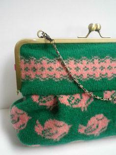 Birdie Bag - Machine Knitted Clasp Handbag £50.00
