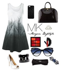 """""""MK by Morgan Defstyle"""" by morgan-defstyle on Polyvore featuring Badgley Mischka, Louis Vuitton, La Perla, NYX and Eugenia Kim"""