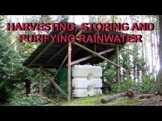 Rainwater Harvesting Off Grid.  Demonstrates rooftop capture and gravity run lines (natural grade provides approx. 40psi).  Additions are before & after water filtration and on demand hot water.