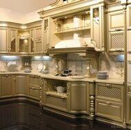 Traditional Gold Kitchens #kitchendesigns #kitchencolors #kitchens