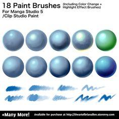 Custom Manga Studio Brushes for Digital Painting