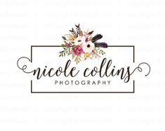 Your place to buy and sell all things handmade Photographer Logo, Decor Logo, Boutique Logo, Flower Logo, Business Logo, Logo Design, Place Card Holders, Logos, Handmade Gifts