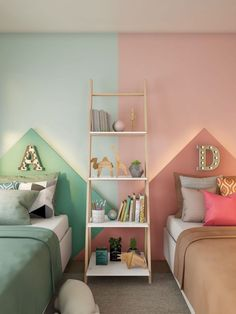 Children's Room Decor Look how charming this child room decor. This proposal is perfect for children who share the room and like to show personality in all the corners. Boy And Girl Shared Room, Boy Girl Room, Child Room, Girl Rooms, Kids Bedroom Designs, Kids Room Design, Kids Bedroom Ideas, Shared Bedrooms, Kid Bedrooms