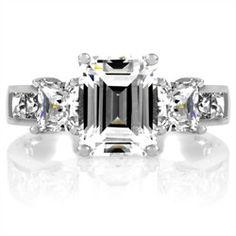 28 Best Emerald Cut Engagement Rings Under 1000 Images On Pinterest