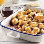 One-Dish Blackberry French Toast Recipe | MyRecipes.com Needs to chill in fridge for 8 to 24 hours before