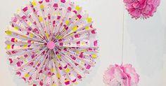 Decorando fiestas: cómo hacer rosetones y pompones