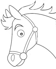 Rodeo Party, Cowboy Theme Party, Horse Party, Horse Coloring Pages, Colouring Pics, Farm Animal Crafts, Farm Animals, Animal Sketches, Animal Drawings