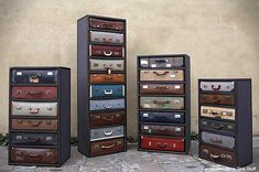 too cool!  vintage suitcase chest of drawers james plumb