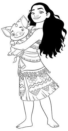 princess moana portrait coloring page  free printable coloring pages  coloring pages