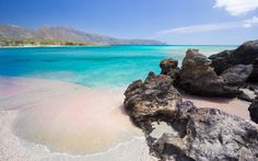 Elafonisi, Crete: Yes, there are pink coral sand beaches in Greece. Located on the southwest side of Crete, Elafonisi is a tiny islet (and a protected nature reserve).