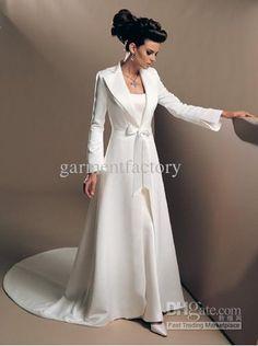 Wholesale Wedding Coat - Buy Elegant Long Sleeved Wedding Coat Bridal Cloak with Court Train Custom-made, $102.27 | DHgate