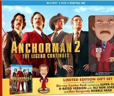Anchorman 2 Exclusive Clip & Giveaway: Win Will Ferrell Signed Bobblehead & Blu-Rays!