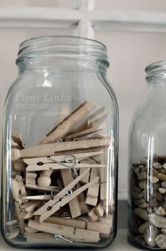 I've saved some of my Mom's & my old wooden clothespins, for all one can find these days are cheap plastic ones!!!