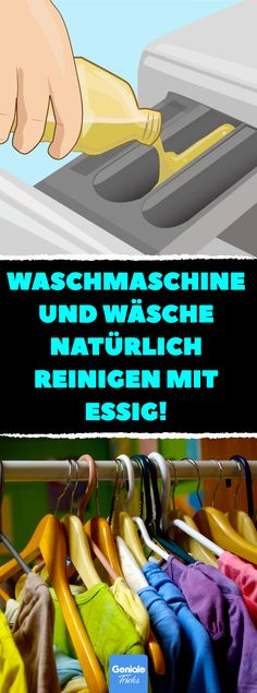 Sie gießt Essig in ihre Waschmaschine. Wenn Du siehst warum, machst Du es sofor… She pours vinegar into her washing machine. Washing machine and laundry clean naturally with vinegar. Limpieza Natural, How To Fold Towels, Diy Room Divider, Chaise Bar, Green Cleaning, Natural Cleaning Products, Things To Know, Housekeeping, Clean House