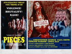 Pieces, horror/gore movie poster