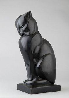 MARTEL Jan et Joël, Chat - Sculpture 20e en bronze