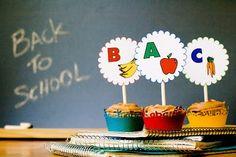 Cute school cupcake toppers!