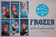 Download these FREE FROZEN Bookmarks from @733blog