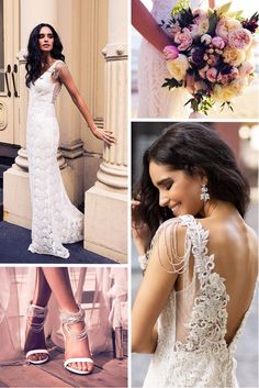 39 Vintage Inspired Wedding Dresses ❤ vintage inspired wedding dresses look v back lace embellishment beaded anna campbell ❤ See more: http://www.weddingforward.com/vintage-inspired-wedding-dresses/ #weddingforward #wedding #bride