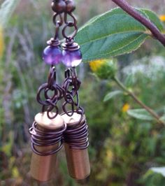 Prairie Queen bullet jewelry earrings by LittleDixieTreasures, $15.00