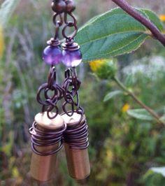 Prairie Queen bullet jewelry earrings by LittleDixieTreasures, $15.00