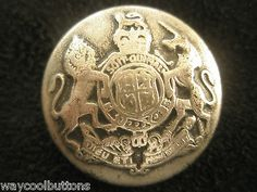UK CREST LION UNICORN SILVER COLOR METAL DOME SHAPED 3 BLAZER JACKET BUTTON SET