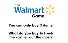 hahaha!! leave a comment of what you would buy!