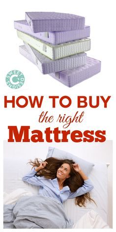 how to buy the right mattress- this is a great guide!