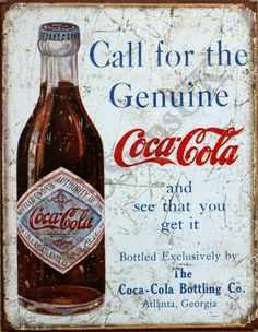 On an old publicity of the #CocaCola !!! ...