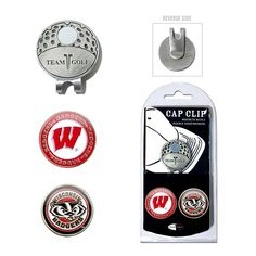 Team Golf Wisconsin Badgers Cap Clip & Magnetic Ball Markers, Multicolor