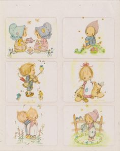 Vintage ADORABLE Betsy Clark 80's sticker sheet  by STICKERPLANET, $10.00