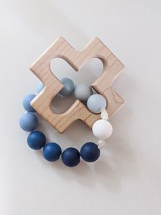A rosary teether for your Catholic baby! Catholic Baptism Gifts, Baby Boy Baptism Gifts, Baby Gifts, The Good Catholic, Baby Safe, Blue Ombre, Blue Rings, Third Party, Teething