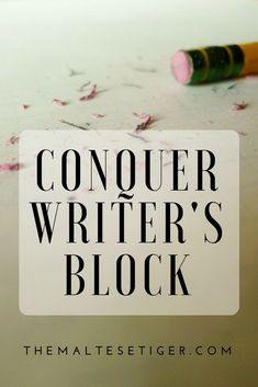 Need help beating writer's block? Check out this great article from The Maltese Tiger! Creative Writing Quotes, Writing Advice, Blog Writing, Writing A Book, Writing Ideas, Maltese Tiger, Writing Fantasy, Writers Notebook, Writer's Block
