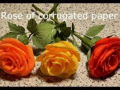 How to make roses from paper. Как сделать розы из гофрированной бумаги? Подробный видео урок - YouTube