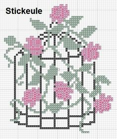 Cross Stitch Bird, Cute Cross Stitch, Cross Stitch Flowers, Cross Stitch Charts, Cross Stitch Designs, Cross Stitching, Cross Stitch Embroidery, Embroidery Patterns, Hand Embroidery