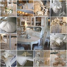 www.romantichome.blogspot.com - Another great collage of white