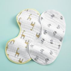 I love all things Aden + Anais, but I'm especially partial to their supersoft burpy bibs ($20 for two). Not only do they fit perfectly over your shoulder for a postmeal burp, but they also have little snaps so they also work as a bib for your lil one. — Kate Stahl, contributing editor