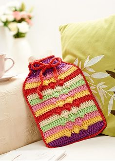 Hottie cover pattern by Jackie Carreira from Let's Get Crafting Knitting & Crochet issue 48