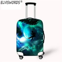 Baggage Covers Green Peacock Featherpattern Washable Protective Case