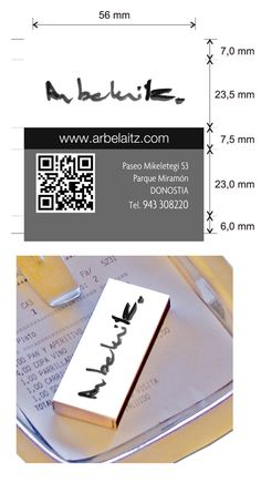 Diseño cajas de cerillas para el restaurante Arbelaitz en Donostia.