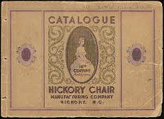 hickory chair manufacturing company - circa 1930 catalog