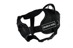 Dean  Tyler DT FUNCH SRCHD RTL Fun Harness with Padded Chest Piece Search Dog Large Black with Reflective Trim * Check out this great product. This is an Amazon Affiliate links.