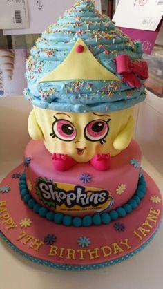 Giant Cupcakes, Shopkins, Birthday Cake, Desserts, Food, Tailgate Desserts, Deserts, Birthday Cakes, Essen