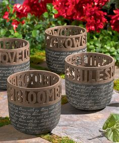 Another great find on #zulily! Wordy Cache Pots Set by Grasslands Road #zulilyfinds