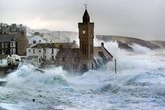 Tempêtes d'hiver - février 2014 : sacristie, quelle tempête !