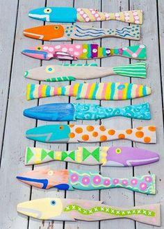 Photo: ☼ ✄ #DIY Bricolage Enfants Eté / DIY Painted Fish ✄ ☼  www.creamalice.com