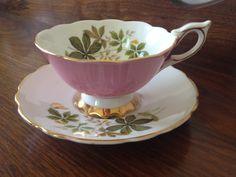 Vintage Royal Stafford English Bone China Tea Cup and Saucer
