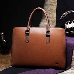 BVP Men Real Leather Business Executive Brown Attache Portfolio Tote briefcase