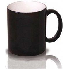 Taza negra pero que con calor aparece una foto.